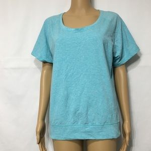 Nike Top Blue Dri Fit Shirt Short Sleeve Size S